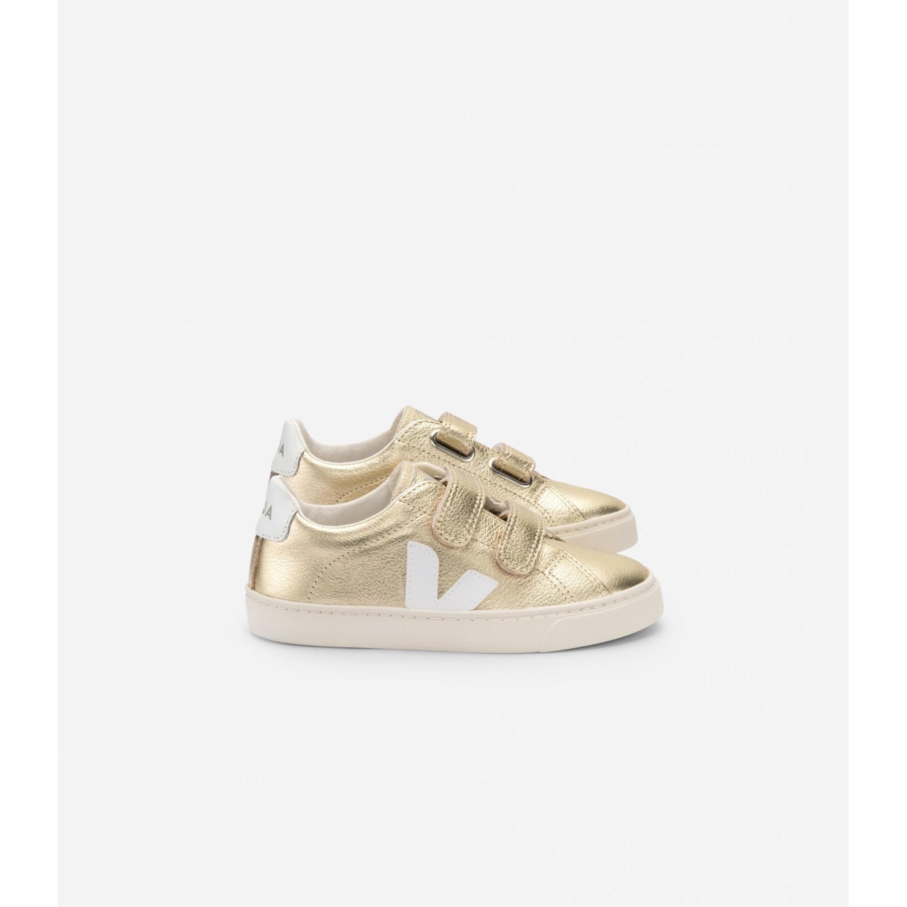 Chaussures enfant Veja Esplar Leather Gold