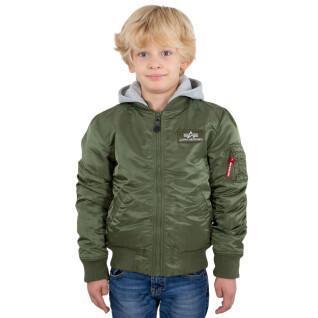 Veste à capuche détachable enfant Alpha Industries MA-1