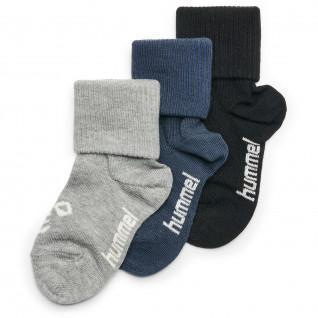 Pack de 3 paires de chaussettes bébé Hummel sora