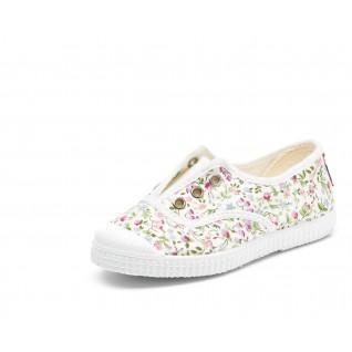 Chaussures en toiles bébé Cienta fleurs anglaises