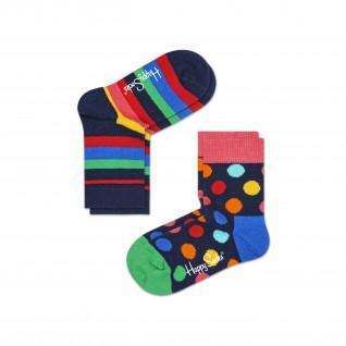 Chaussettes enfant Happy Socks 2-pack Stripe