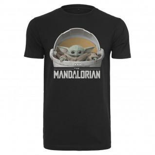 T-shirt Urban Classics baby yoda mandalorian logo